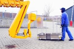 Платформа Omme Lift 4200 RBDJ на специальной удлинительной секции стрелы (гуське)
