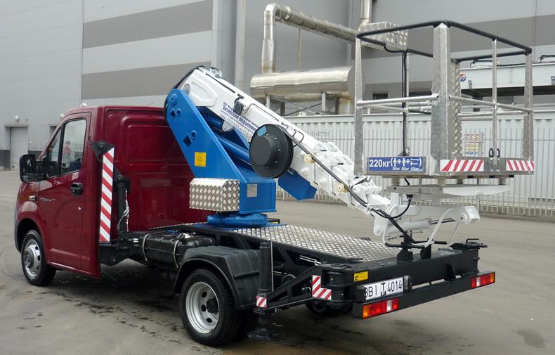 12 метровый гидроподъёмник на однорядной Газели Next