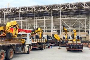 Краны манипуляторы HYVA на строительстве Олимпийского парка в Рио-де-Жанейро.