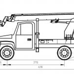Автогидроподъемник на Газ 3309