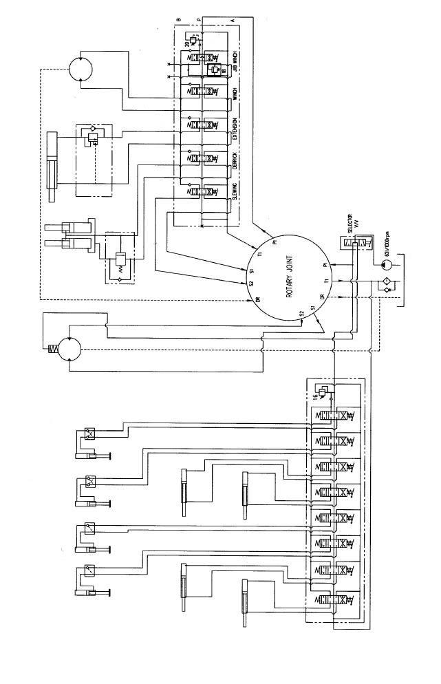 Гидравлическая схема КМУ Hiab 190