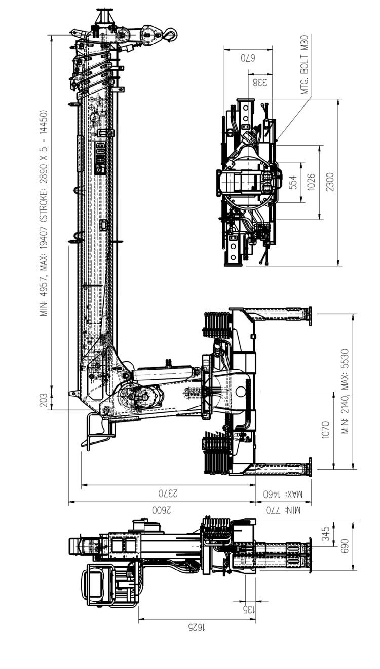 Кран манипулятор Hiab 190 Размеры