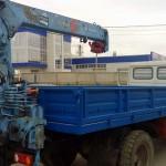 Установка манипулятора TADANO на задний свес рамы автомобиля ГАЗ