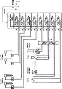 Схема гидравлической системы КМУ Soosan